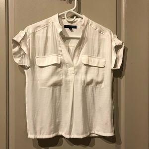 NWOT Banana republic white blouse XS